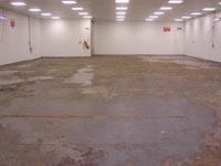 Műgyanta padló elkészítése előtti állapot